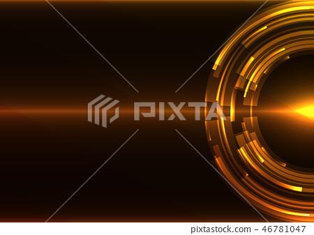 golden circle digital abstract sheet background 46781047