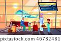 Saudi Arabian people in airport illustration 46782481