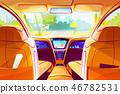 Smart car inside interior illustration 46782531