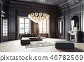 modern luxury black interior. 46782569
