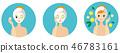 skin facial woman 46783161