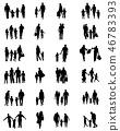 family silhouette vector 46783393