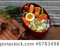 Chestnut rice lunch / japanese lunch box 46783498