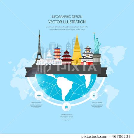 商務旅行信息圖形 46786232