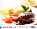Hamburger steak 46787864