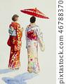 Asian woman in Kyoto Japan 46788370