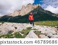 mountain female hiker 46789686