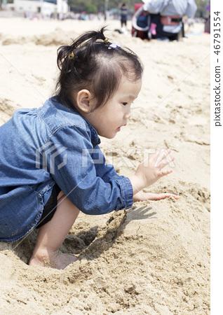 모래놀이,유아,베이비,아기,어린이,해운대,해운대구,부산 46791554