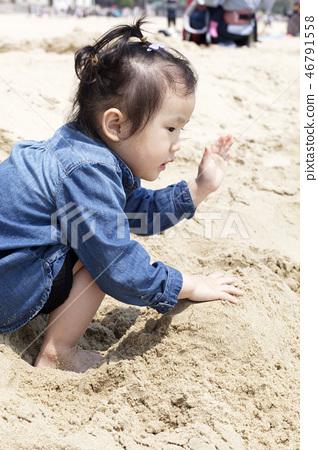 모래놀이,유아,베이비,아기,어린이,해운대,해운대구,부산 46791558