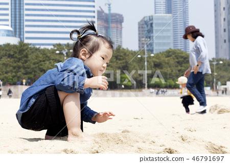 모래놀이,유아,베이비,아기,어린이,해운대,해운대구,부산 46791697