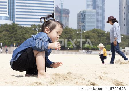 모래놀이,유아,베이비,아기,어린이,해운대,해운대구,부산 46791698