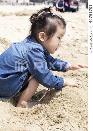 모래놀이,유아,베이비,아기,어린이,해운대,해운대구,부산 46791701