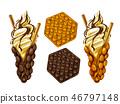 วาฟเฟิล,ไอศกรีม,อาหาร 46797148