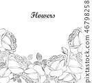 잎, 장미, 꽃 46798258