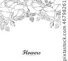 잎, 장미, 꽃 46798261