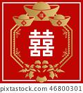 中國吉祥飾品。中國吉祥牆飾。春節的牆面裝飾。 Saki的牆面裝飾。東南亞拉 46800301