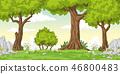 Cartoon Summer Landscape 46800483