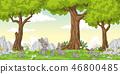 Funny Cartoon Rabbits 46800485