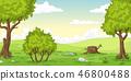 Cartoon Summer Landscape 46800488