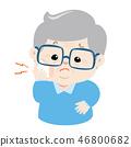 Grandpa having toothache cartoon vector. 46800682