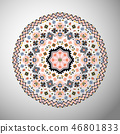 Ornamental round colorful geometric pattern in aztec style 46801833