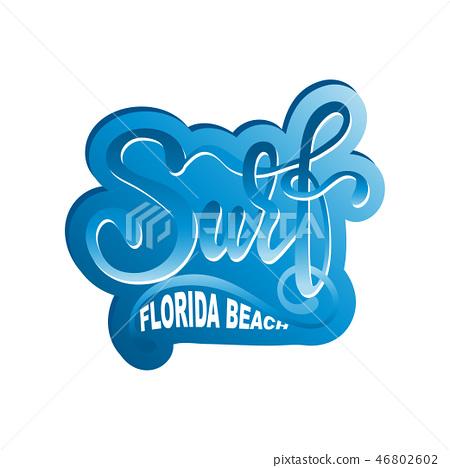 Surf lettering logo in graffiti style  46802602