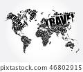 map, touristic, travel 46802915