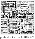 WELCOME word cloud collage 46802921
