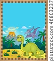 Dinosaur theme parchment 1 46803237
