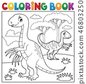 Coloring book dinosaur subject image 4 46803250