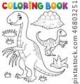 Coloring book dinosaur subject image 3 46803251