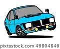 減速火箭的輕的汽車跳淺蘭的汽車例證 46804846