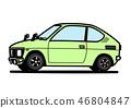 復古輕型車淺綠色汽車插圖 46804847