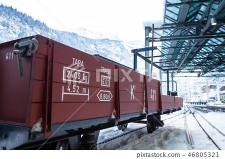 Switzerland's Snowy Railway cold Station 46805321