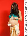 女人 女性 怀孕 46806447