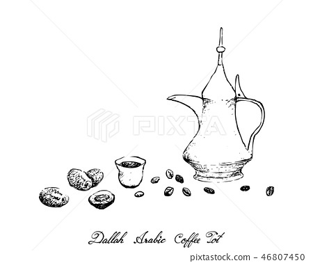 Dallah or Traditional Turkish Coffee Pot 46807450
