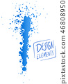 brush and splash vector design 46808950