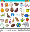E is for educational game for children 46809096