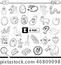 E is for educational game coloring book 46809098
