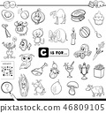 C is for educational game coloring book 46809105