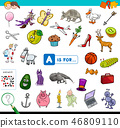 A is for educational game for children 46809110