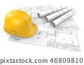 Architectural blueprints. 46809810