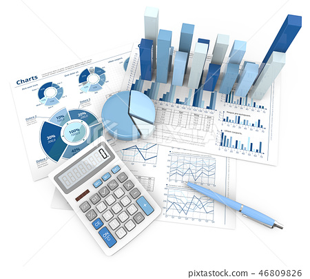 Abstract Finance Workplace. 46809826
