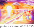 You're back? (Koikuma and the sunset) 46816055