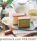 Tea time with Japanese sweets 46816487