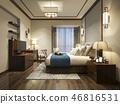 床 卧室 室内装饰 46816531