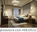 床 卧室 室内装饰 46816532