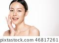 beauty girl face 46817261