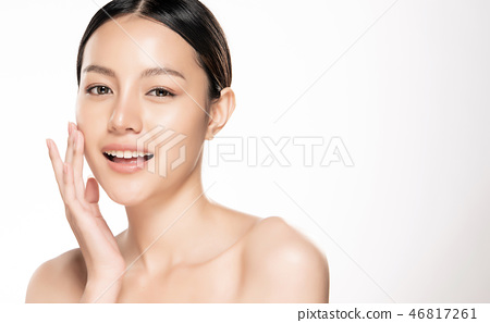 Beautiful smiling woman with clean skin 46817261