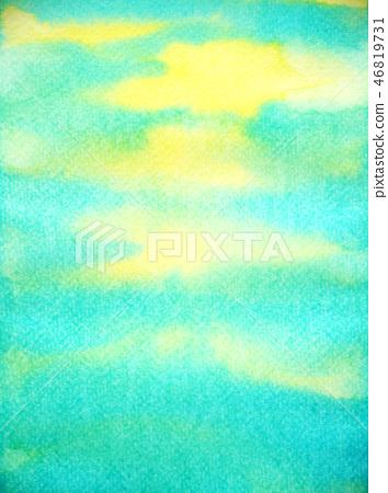 abstract blue sun sky water ocean wave mountain 46819731
